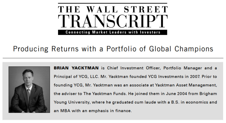 Brian Yacktman - Ameritrade Interview